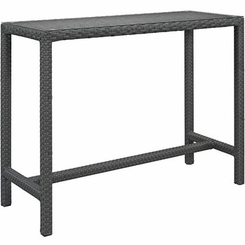 SOJOURN LARGE OUTDOOR 1956 PATIO BAR TABLE IN CHOCOLATE