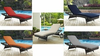 SOJOURN OUTDOOR PATIO SUNBRELLA� CHAISE IN ANTIQUE CANVAS