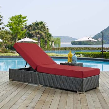 SOJOURN OUTDOOR PATIO SUNBRELLA® 1862 CHAISE LOUNGE IN CANVAS