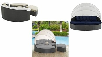 SOJOURN OUTDOOR PATIO SUNBRELLA� DAYBED IN CANVAS