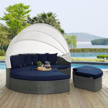 SOJOURN OUTDOOR PATIO SUNBRELLA® 1986 DAYBED IN CANVAS