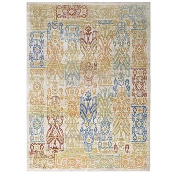 SOLIMAR DISTRESSED SOUTHWESTERN AZTEC 5X8 AREA RUG IN MULTICOLORED