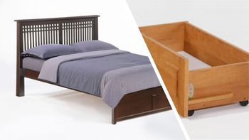 Solstice Platform bed with 2 Tall storage drawers- K Series / 10 years warranty