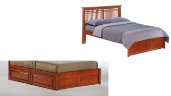 Solstice Platform Full bed with 2 Tall storage drawers- K Series/  10 Year Warranty