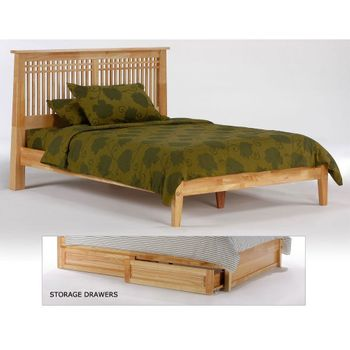 Solstice Platform King bed with 2 Short storage drawers- P Series/ 10 Year Warranty