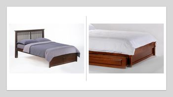 Solstice Platform Twin bed with 2 Short storage drawers- P Series/  10 Year Warranty