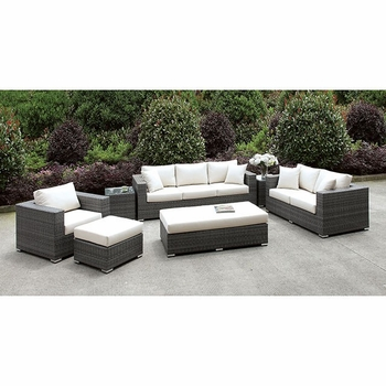 SOMANI 3 PC SET + 2 END TABLES + OTTOMAN + BENCH OS2128-16