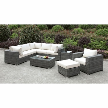 SOMANI L-SECTIONAL + CHAIR + OTTOMAN + COFFEE TABLE