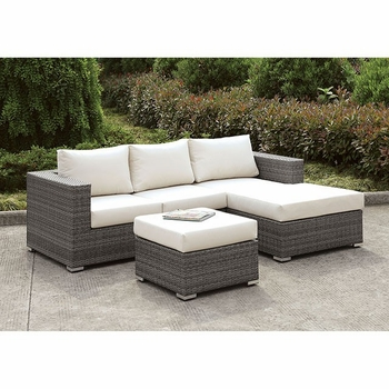 SOMANI SMALL L-SECTIONAL W/ RIGHT CHAISE + OTTOMAN SET 15