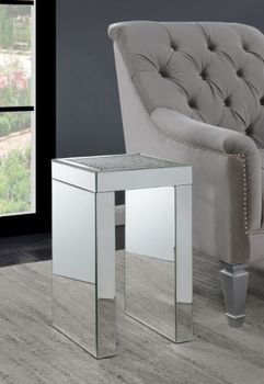 Square Chairside Table Clear Mirror 930207