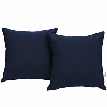 SUMMON 2 PIECE OUTDOOR PATIO PILLOW SET IN NAVY