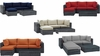 SUMMON 5 PIECE OUTDOOR PATIO SUNBRELLA� SECTIONAL SET IN CANVAS