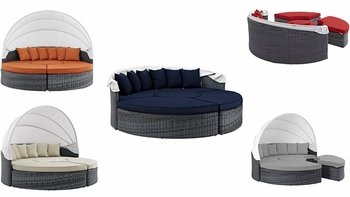 SUMMON CANOPY OUTDOOR PATIO SUNBRELLA® DAYBED IN CANVAS