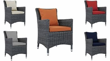 SUMMON DINING OUTDOOR PATIO SUNBRELLA® ARMCHAIR IN CANVAS