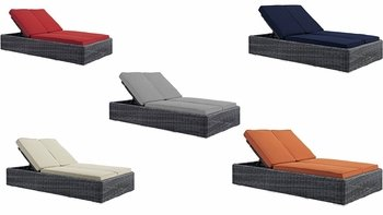 SUMMON DOUBLE OUTDOOR PATIO SUNBRELLA� CHAISE