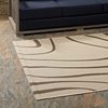 SURGE SWIRL ABSTRACT 8X10 INDOOR AND OUTDOOR AREA RUG IN LIGHT AND DARK BEIGE