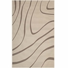 SURGE SWIRL ABSTRACT INDOOR AND OUTDOOR AREA RUG IN LIGHT AND DARK BEIGE