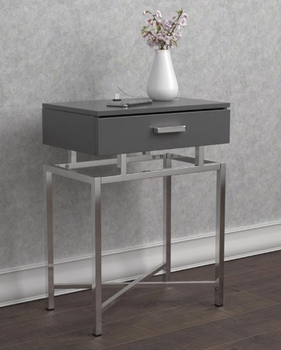 Floating Top Accent Table Grey And Chrome # 930247