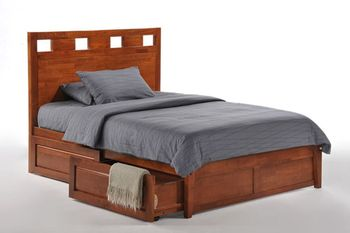 Tamarind Queen Platform bed with 2 Tall storage drawers- K Series / 10 years warranty