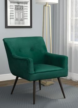 Tapered Legs Accent Chair Dark Teal