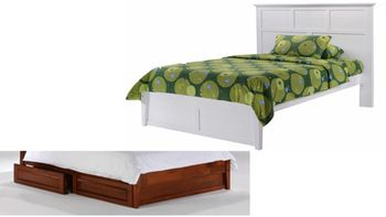 Tarragon Platform bed with 2 Short storage drawers- P Series / 10 years warranty