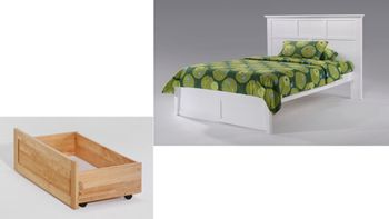 Tarragon Platform Twin bed with 2 Tall storage drawers- K Series/  10 Year Warranty
