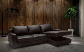 Taylor Premium Sectional Leather Sleeper