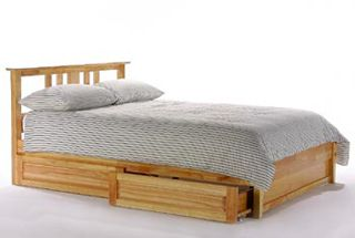 Thyme Queen Platform bed with 2 Short storage drawers- P Series / 10 years warranty