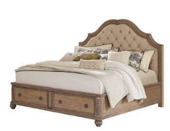 Traditional Queen size upholstered bed # 205070Q