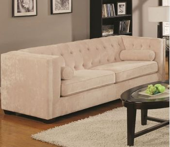 Transitional Alexis Chesterfield Sofa with Track Arms 504391