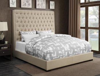 Upholstered Beds Upholstered Queen Bed with Diamond Tufting