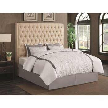 Upholstered 300722QB1 Queen Headboard with Diamond Tufting