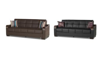 Uptown PU Sofa Bed Sleeper Storage