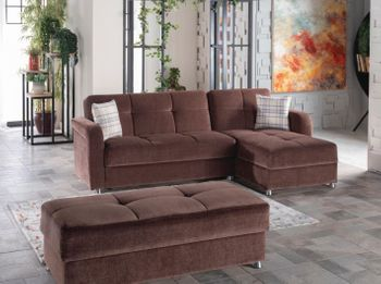 Vision Reversible Sectional Sleeper Storage