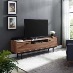 """Visionary 71"""" TV Stand in Walnut Black 3435"""