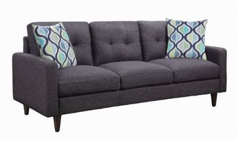 Watsonville Tufted Back Sofa Grey 552001