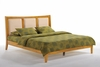 Zezo king Platform bed with 2 Tall storage drawers- K Series