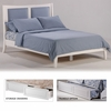 Zezo Queen Platform bed with 2 Tall storage drawers- K Series