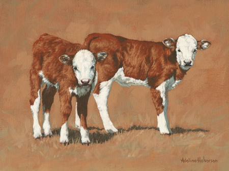 """Adeline Halvorson Handsigned and Numbered Limited Giclee Edition: """"Twosome"""""""