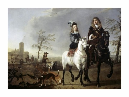 "Aelbert Cuyp Fine Art Open Edition Giclée:""Lady and Gentleman on Horseback"""