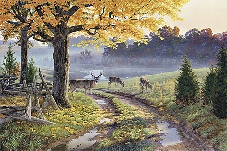 """Al Agnew Handsigned and Numbered Limited Edition Print:""""Bend in the Road"""""""