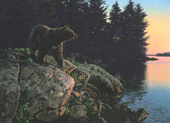 "Al Agnew Handsigned & Numbered Limited Edition Print:""Evening Calm """