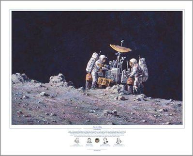 "Alan Bean Astronaut Signed Limited Edition Artist Proof Giclee Print:""On the Rim"""