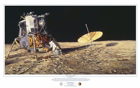 "Alan Bean Hand Signed and Numbered Limted Edition Giclée Print:""Home Sweet Home"""