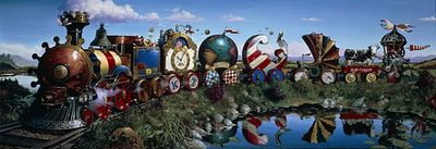 """Dean Morrissey Gallery Wrapped Canvas Giclee:""""The Great Kettles Train"""""""