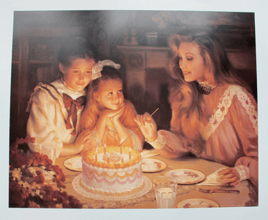 "Alan Murray Limited Edition Lithograph:""Three Wishes"""