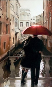 """Daniel Del Orfano Limited Edition Hand Embellished Giclee on Canvas:""""Lost in Venice"""" - Click to enlarge"""