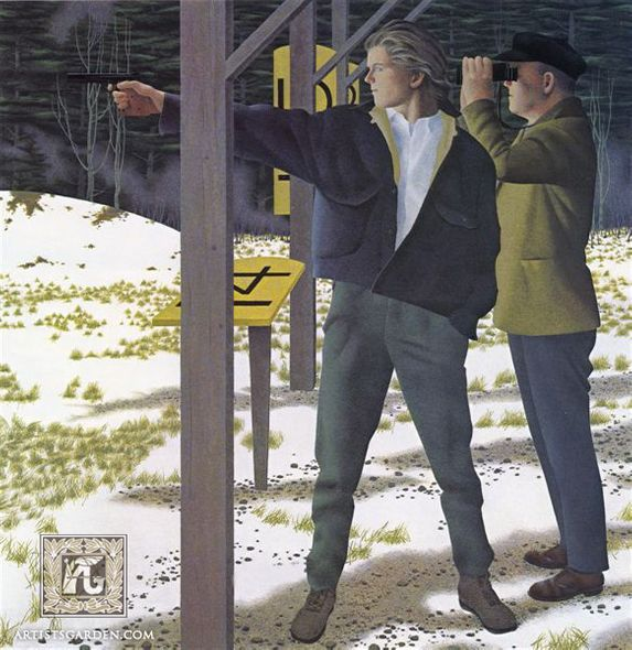 "Alex Colville Hand Signed and Numbered Limited Edition Print ""Target Shooting"""