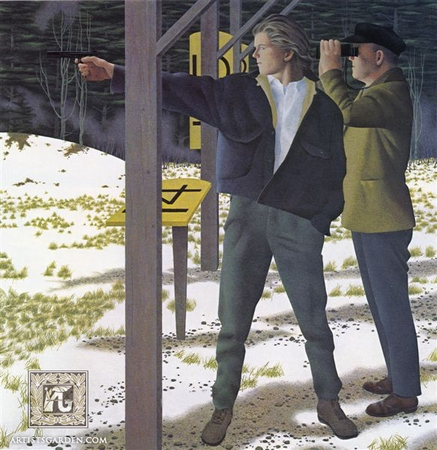 """Alex Colville Hand Signed and Numbered Limited Edition Print """"Target Shooting"""""""
