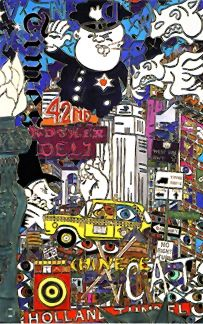 """Alex Echo Limited Edition Lithograph: """" The Big Apple """""""